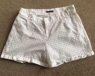 Sisley white shorts