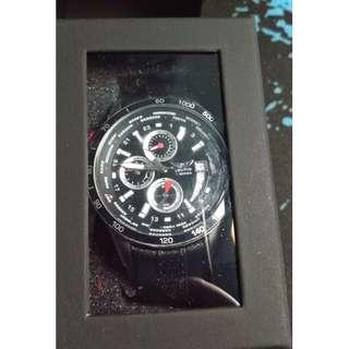BRAND NEW!!! Aviator F-series Black leather stainless steel watch