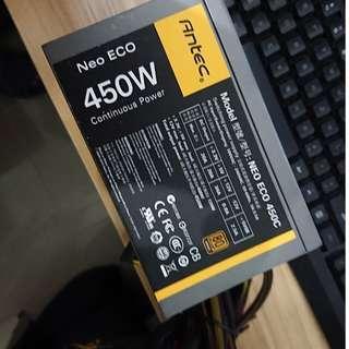 100%working Antec NeoECO 450C 80Plus 450W 可議