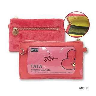 (instock) japan exclusive bt21 smartphone pouch - tata