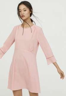 H&M Crepe Pink Dress