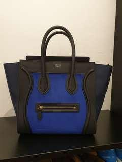 Celine Mini Luggage Tri-Color with Suede Wings