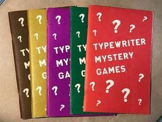 🚚 Typewriter Mystery Games - 5 Books