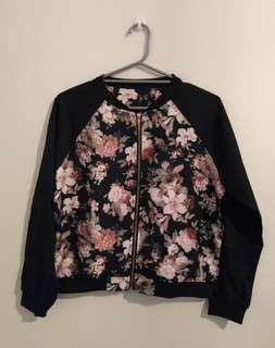 Floral Bomber Jacket BNWOT