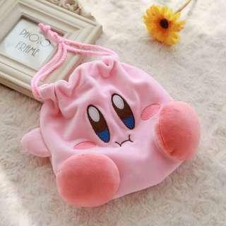 Kirby Ultra Soft Drawstring Pouch