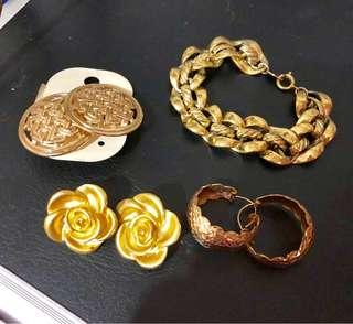 Gold and Rosegold Fashion Accessories