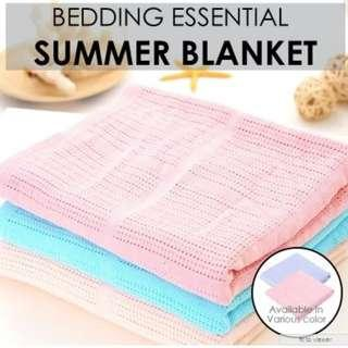 Summer Blanket / Thermal Blanket / 100% Cotton Blanket