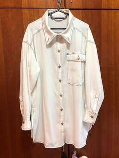 Shirts / outwear for women. One size for all. Creamy white