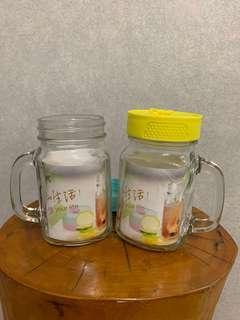 🚚 [Ericaca 愛挖寶] 家魔仕玻璃梅森瓶二入組~全新未使用~特價200元💕