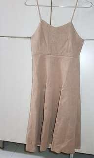 Vest skirt brown