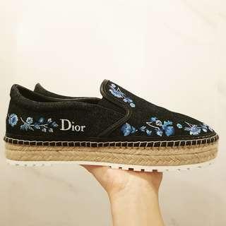 🚚 Dior Blue Denim Espadrilles