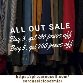 All out sale