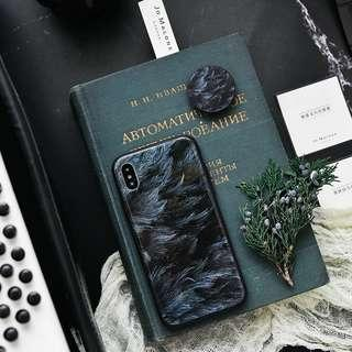 iPhone / Huawei 手機殼-綱化玻璃羽毛殼