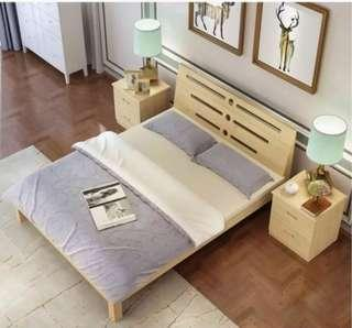 🚚 Sold Wood Queen Size Bed Frame FREE Delivery
