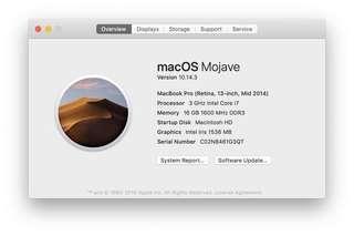 MacBook Pro 13inch 2014年中