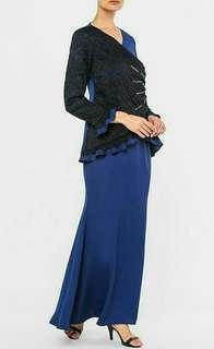 Altelia Amani x Fazura Ifti Liyana Kurung In Blue #50TXT
