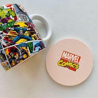 Marvel 陶瓷水杯連杯墊 ceramic cup