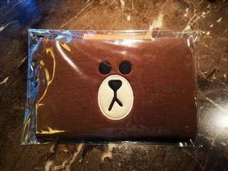 LINE Friends Brown pouch