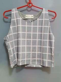 Back-Ribboned Cropped Top