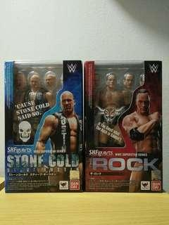 🚚 WWE S.H.Figuarts SHF The Rock and Stone Cold