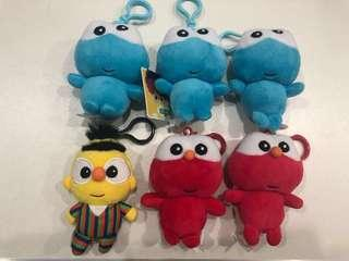 Sesame Street soft toy with hook