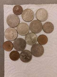台湾硬币共15枚