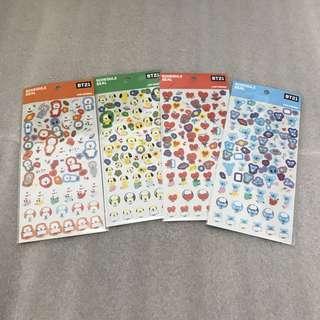 japan exclusive bt21 schedule seal