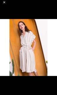 Juliette Striped Shirt Dress