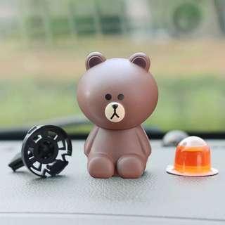 Brown 熊大 風口汽車香薰