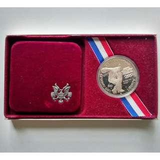 1983 United States Olympic Silver Dollar Proof Coin