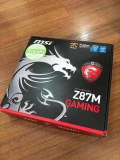 MSI Z87M Gaming Matx motherboard