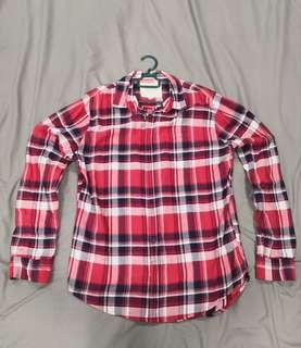 Mens Long Sleeve Casual Shirt M Size Shoulder 45cm