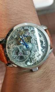 二手 cg 鏤空 機械錶