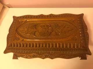 復古木製首飾盒兩件