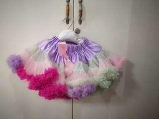 Baby Girl Rainbow Pastel TuTu dress outfit