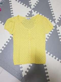 🚚 Forever 21 knitted yellow top