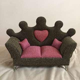 Crown Couch Glittery Jewelry Box