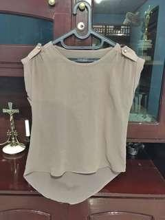 Brown chiffon top