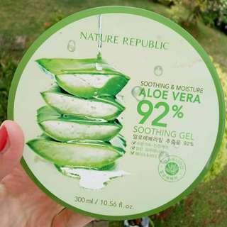Nature Republic Aloe Vera 92% Soothing Gel 300ml - ORIGINAL