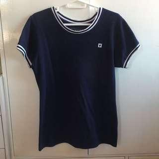 Penshoppe Blouse in Navy Blue