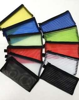 🚚 Zip Case Bag, Mesh ↪ Transparent 💱 $2.00 Each Piece/ $4.80 for 3 Pieces