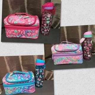 Smiggle Stylin Double Decker Lunchbox with Water Bottle