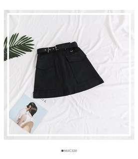 Black Buckle Skirt