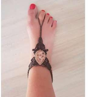 Handmade Foot Jewellery with Genuine Brazilian Stone