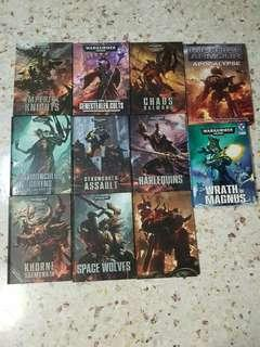 Warhammer 40K Codexes Books Imperial Armour, etc