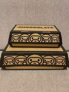 Chocolate x Bathing Ape 紙盒2個