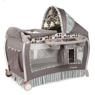 Semaco Baby Deluxe Playpen (full canopy) + extra made-to-measure mattress