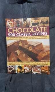 Buku resep cokelat coklat 500 classic recipes