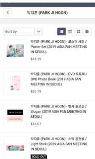 [SHARE SHIPPING] Park Jihoon First Edition Fanmeeting Goods