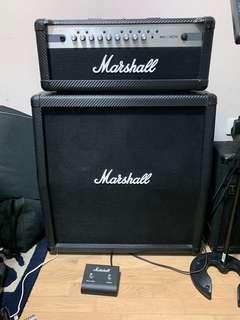 Marshall MG100HCFX + MG412A Half Stack Carbon Fiber